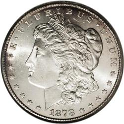 1878-CC S$1 MS66 NGC. David Bowers (1993) writes that: