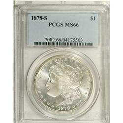 1878-S S$1 MS66 PCGS. Fully struck and untoned, with f