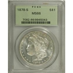 1878-S S$1 MS66 PCGS. Well struck and untoned, with br
