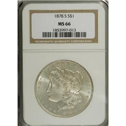 1878-S S$1 MS66 NGC. This exactingly struck Premium Ge
