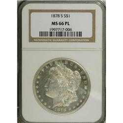 1878-S S$1 MS66 Prooflike NGC. A boldly impressed repr