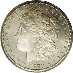 1879-CC S$1 MS64 Prooflike ANACS. Normal Mintmark. Thi