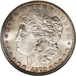 1879-CC S$1 Capped Die MS62 NGC. VAM-3. A Top 100 Vari