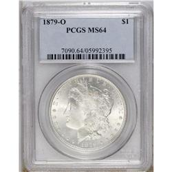 1879-O S$1 MS64 PCGS. Highly lustrous and essentially