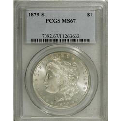 1879-S S$1 MS67 PCGS. Brilliant, satiny surfaces revea