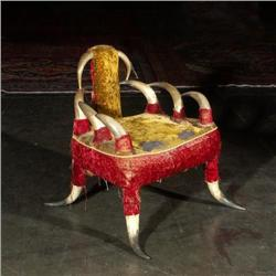Victorian 19th century cow horn chair