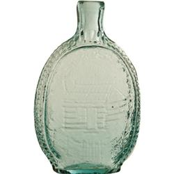 WH Harrison: Exceedingly Rare Blown Glass Flask