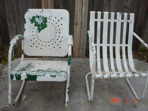vintage metal patio rocker chair - Vintage Metal Outdoor Chairs. Old Metal Lawn Chairs. Modern Metal