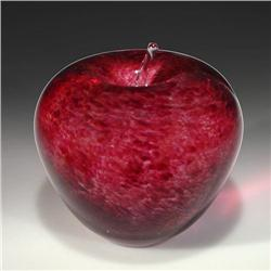 Wedgwood glass red apple paperweight