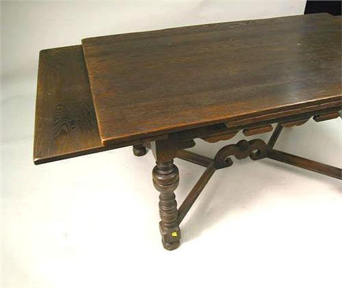 Image 4 A Jacobean Style Turned Oak Draw Leaf Dining Table