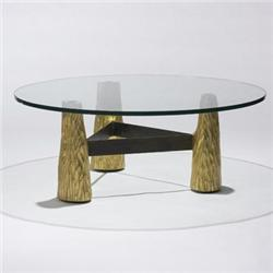 Phillip Lloyd Powell Coffee Table Usa 1956 Gilt And Carved Wood Gl