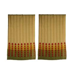 Frank Lloyd Wright pair of curtains from the Albert Adelman House, F