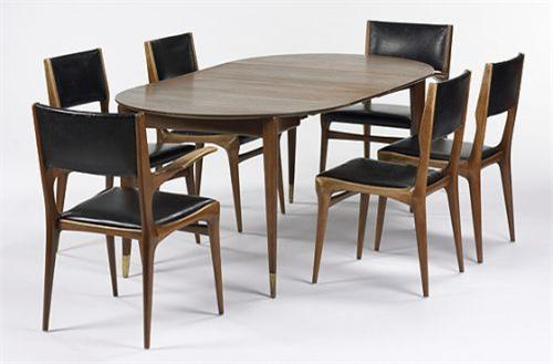Image 1 : Gio Ponti And Carlo Di Carli Dining Set Singer U0026 Sons USA,