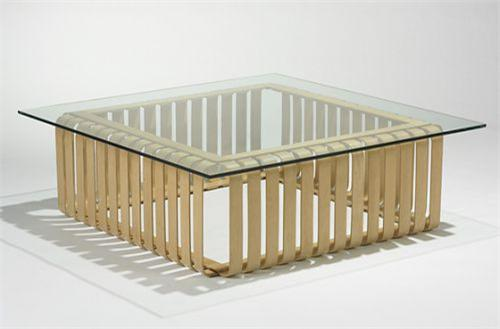 Frank Gehry Icing Coffee Table Knoll Usa 1993 Laminated Birch Glas Loading Zoom