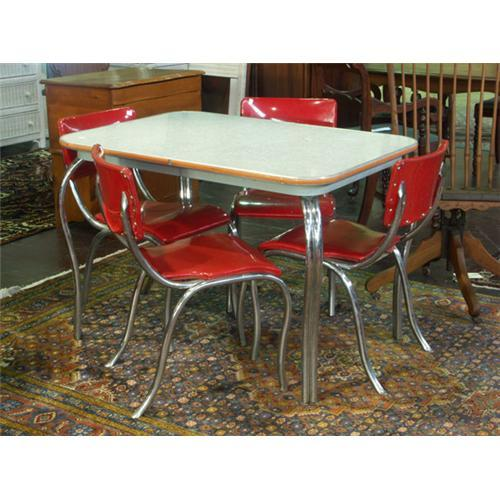 circa 1950s chrome dining table and chairs  rh   icollector com