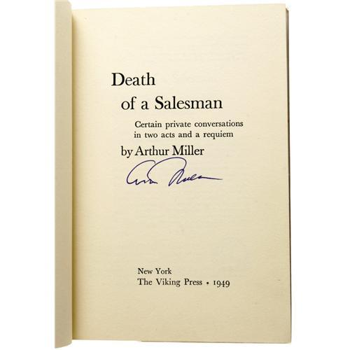 death of a salesman arthur miller Get free homework help on arthur miller's death of a salesman: play summary,  summary and analysis, quotes, essays, and character analysis courtesy of.