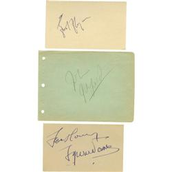 Errol Flynn, Tyrone Power, and John Garfield Autographs