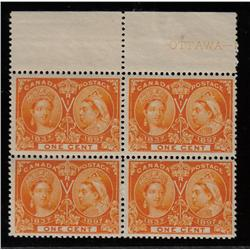 #51 VF-NH UPPER BLOCK OF 4 *JUBILEE* C$360,00