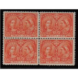 #59 F-VF-1NH 3LH BLOCK OF 4 *JUBILEE* C$1200,00