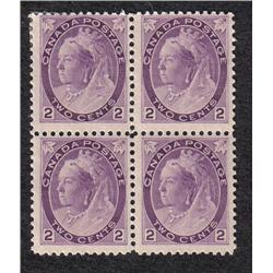 #76 VF 3NH 1LH BLOCK OF 4 *NUMERAL ISSUE* C$400,00