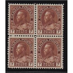 #114 XF NH SELECT BLOCK 4 *ADMIRAL* C$360,00