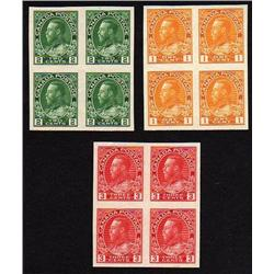 #136-137-138 XF NH SELECT IMPERF BLOCK 4 *ADMIRAL* C$1000,00