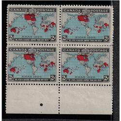 #86 F-VF H BLOCK 4 *MAP STAMPS* C$160,00