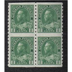 #128a XF-NH SELECT IMPERF BLOCK OF 4 C$138,00