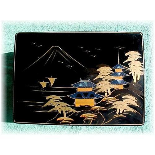 Musical Jewelry Box Vintage Japanese Lacquer 1510509