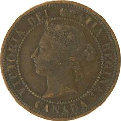 Canada Large Cent 1891 SDLL, F-VF