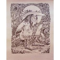 Vintage Rick Griffin Mescalito Indian Poster #1537870