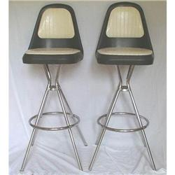 Retro Bar Stools by Comfortline Black and White#1505452