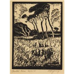 HARRY ANTHONY DEYOUNG, Early Texas block print