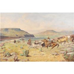 H. W. CAYLOR, Early Texas Art, o/c