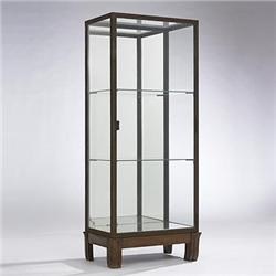 art deco vitrine c 1930 wrought iron glass. Black Bedroom Furniture Sets. Home Design Ideas