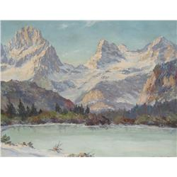 M. Strasky Austrian Oil Mountainscape