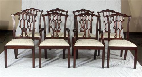 Etonnant Image 1 : HENKEL HARRIS EIGHT CHIPPENDALE DINING CHAIRS ...