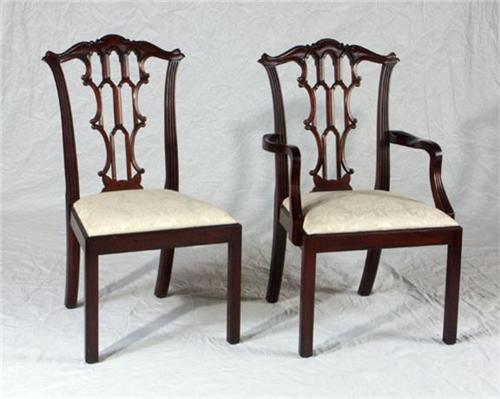 ... Image 2 : HENKEL HARRIS EIGHT CHIPPENDALE DINING CHAIRS ...