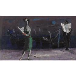 LOUIS BOSA, Night Edition, 1952, Oil/Canvas