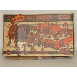 WALT DISNEY'S DAVEY CROCKETT AT THE ALAMO TOY SET BY MARX W/