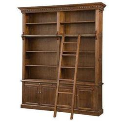 Antique Library Executive Wall Ladder Bookcase 1601025