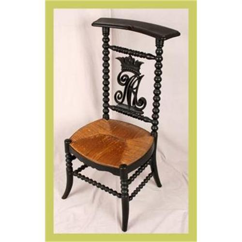 - Antique French Prayer Chair Carved Prie Dieu #1553065