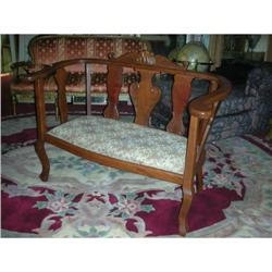 Cherry Empire Swan Leg Settee Bench 1840 #1579040