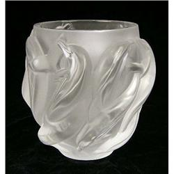 A FROSTED TO CLEAR GLASS BOWL
