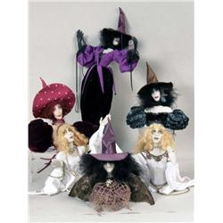 A GROUP OF COMPOSITION AND MIXED MEDIA FIGURES OF WITCHES