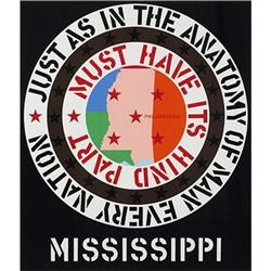 Robert Indiana, untitled (Mississippi), USA,