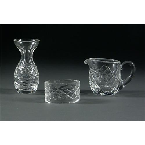 Waterford Creamer Napkin Ring And Small Vase