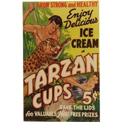 Tarzan Ice Cream Cups Poster 1930s