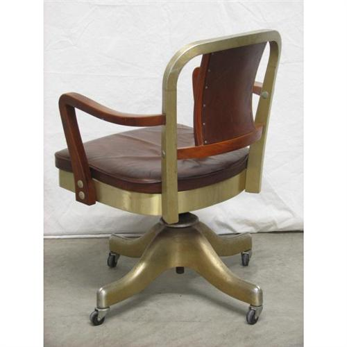 Shaw Walker Leather Office Chair Retro