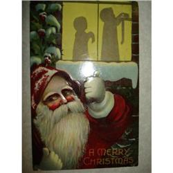 ANTIQUE SANTA CLAUS ST NICK POSTCARD EMBOSSED #1679138